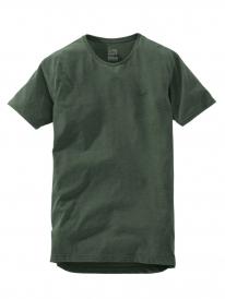 Cleptomanicx Ligull Long 2 T-Shirt (heather dark olive)