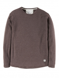 Cleptomanicx Mesher Longsleeve (heather funghi brown)