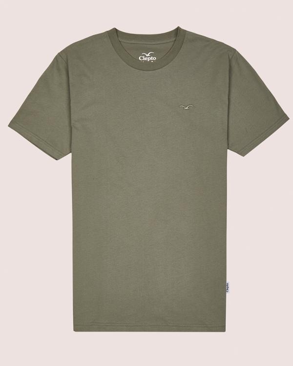 Cleptomanicx Ligull Regular T-Shirt (heather dark olive)