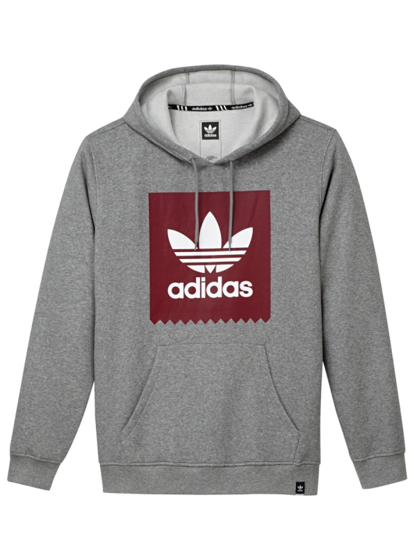 Adidas Solid Blackbird Hoodie (core heather)
