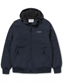 Carhartt WIP Hooded Sail Jacke (black/white)