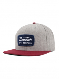 Brixton Jolt Cap (light heather grey/burgundy)