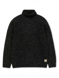 Carhartt WIP Anglistic Turtleneck Strick Sweater (black heather)