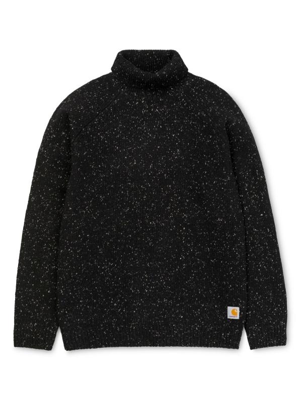 Carhartt Anglistic Turtleneck Strick Sweater (black heather)