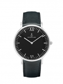 Kapten & Son Campus Black Leather (black/silver)