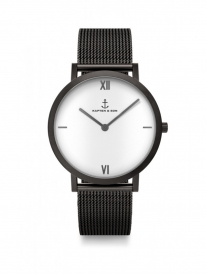 Kapten & Son Pure Lux Mesh Uhr (white)
