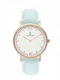 Kapten & Son Campina Mint Velvet Leather (white/rosegold)