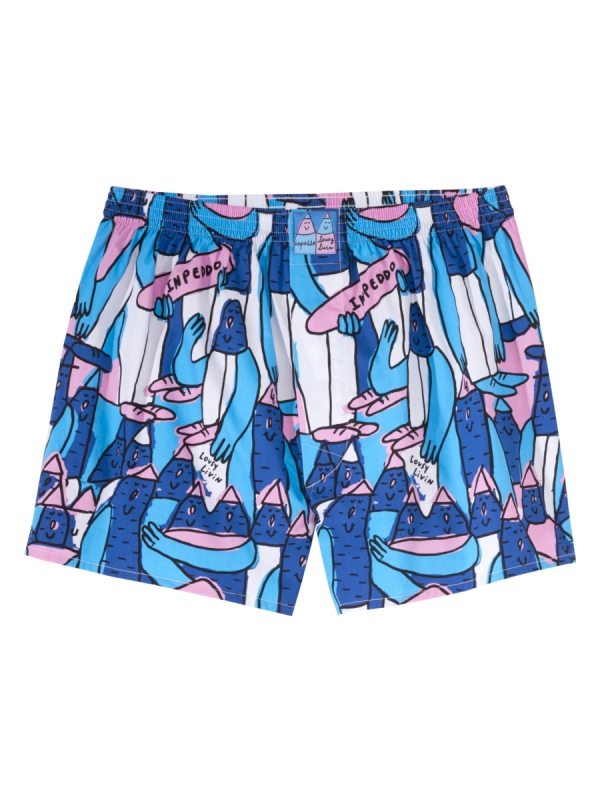 Cleptomanicx Inpeddo X Lousy Lucas Boxershorts (olympian blue)