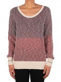 Iriedaily 2 Tone Biquet Strick Sweater (maroon melange)