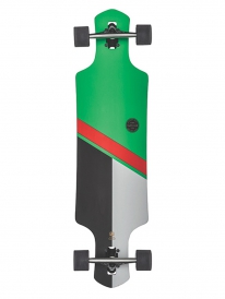 "Globe Geminon 38.5"" Komplett Longboard (green/red)"