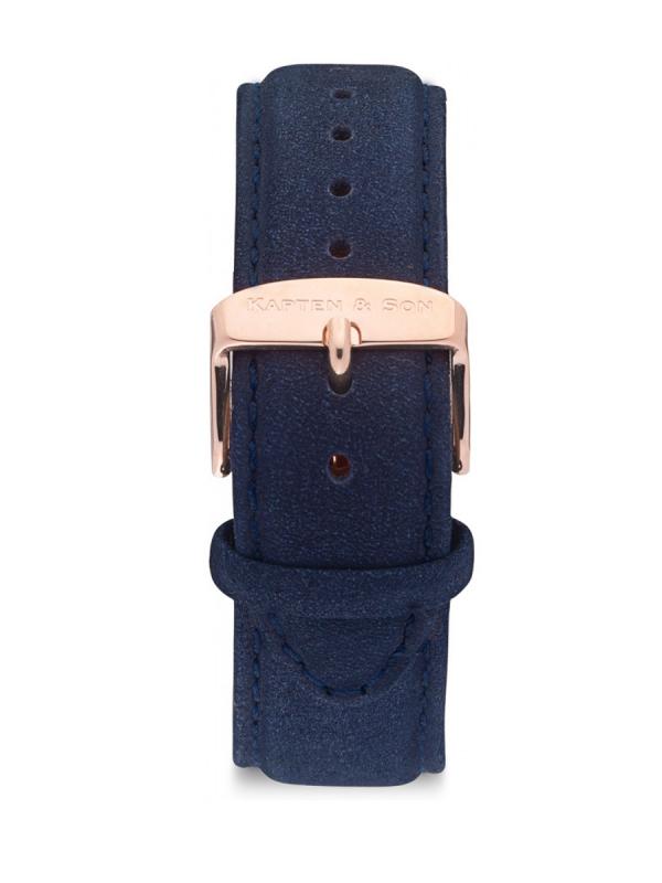 Kapten & Son Night Blue Leather Strap (blau)
