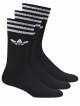 Adidas Solid Crew Socken 3 Paar (black/white)