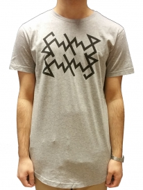 Schichtwechsel Scribble Long T-Shirt (heather grey)