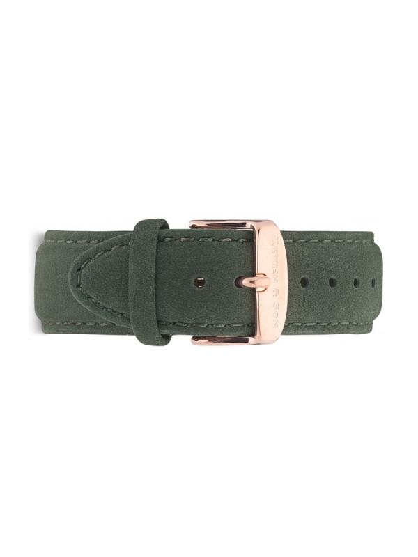 Kapten & Son Suede Leather Strap Pine Green (grün)