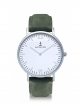 Kapten & Son Campina Pine Green Leather (white/silver)