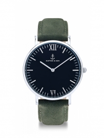 Kapten & Son Campina Pine Green Leather (black/silver)