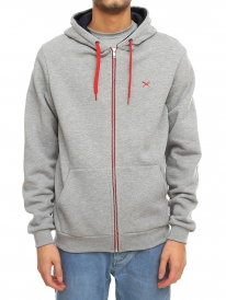 Iriedaily Mini Flag Zip Hoodie (grey melange)