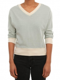 Iriedaily Comb Halfsleeve Strick Sweater (beryl melange)
