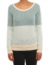 Iriedaily 2 Tone Biquet Strick Sweater (mint)