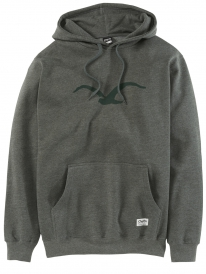 Cleptomanicx Möwe Tonal Hoodie (heather dark olive)