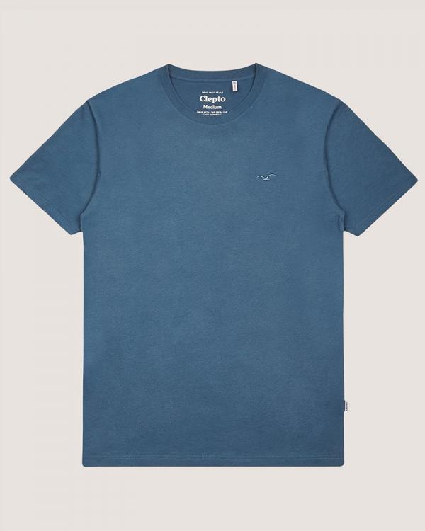 Cleptomanicx Ligull Regular T-Shirt (blue wing)