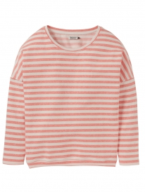 Cleptomanicx Henni Stripe Sweater (coral)
