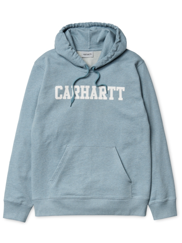 Carhartt College Hoodie (dusty blue heather/white)