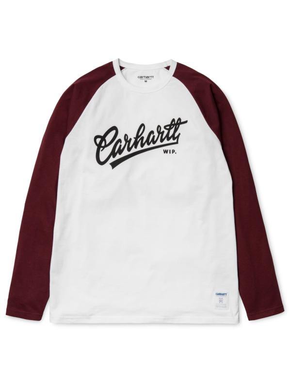 Carhartt Craft Script Longsleeve (white/chianti/black)