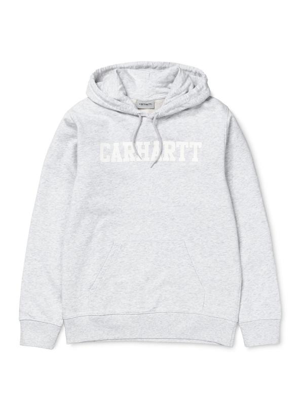 Carhartt College Hoodie (ash heather/white)