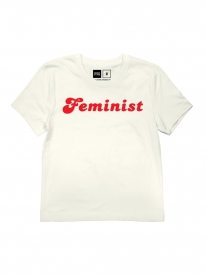 Dedicated Mysen Feminist Fairtrade Organic T-Shirt (off white)