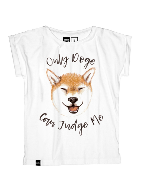 Dedicated Visby Doge Crowd Fairtrade Organic T-Shirt (white)