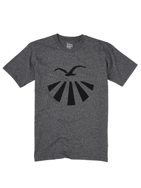 Cleptomanicx Plamo T-Shirt (heather black)