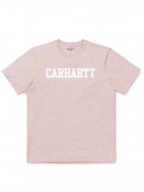 Carhartt WIP College T-Shirt (sandy rose heather/white)