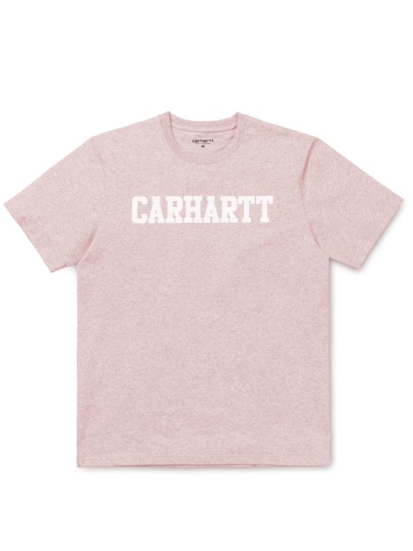 Carhartt College T-Shirt (sandy rose heather/white)