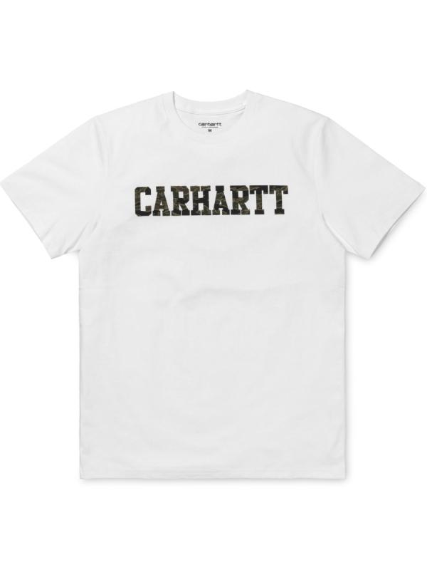 Carhartt College T-Shirt (white/camo tiger laurel)
