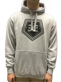 Schichtwechsel Mountain Logo Hoodie (light grey melange)
