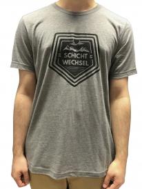 Schichtwechsel Mountain Logo T-Shirt (grey melange)