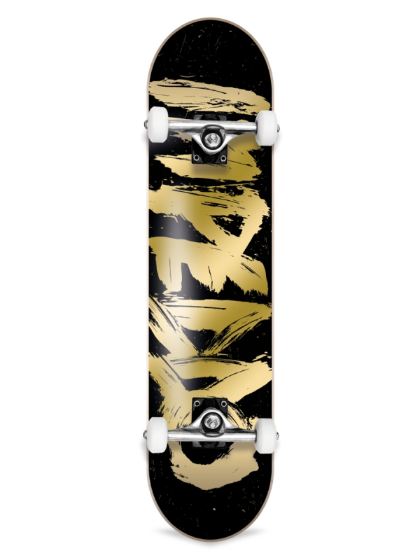 Inpeddo Brusher Gold Komplett Skateboard 7.75 Inch (black/gold)