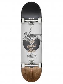 Globe Excess Skateboard Komplettboard 8.0 Inch (white/brown)