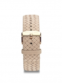 Kapten & Son Woven Leather Strap Sand (beige)