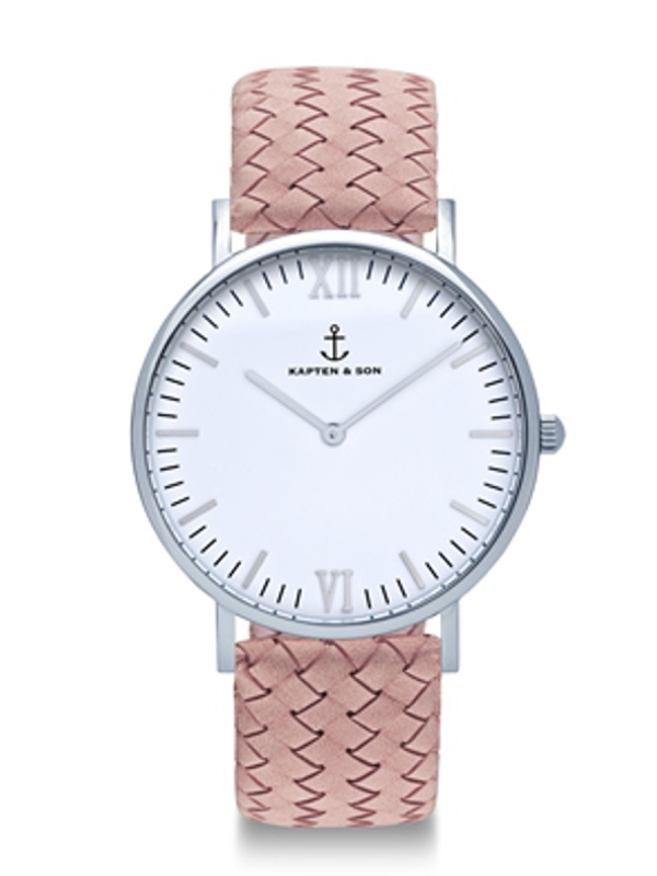 Kapten & Son Campina Rose Woven Leather (white/silver)