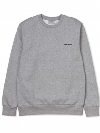 Carhartt WIP Script Embroidery Sweater (grey heather/white)