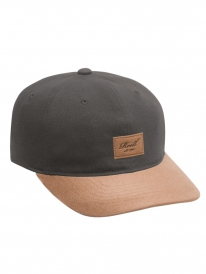 Reell Curved Suede Cap (charcoal)