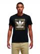 Adidas Camo Blackbird T-Shirt (black/camo print/collegiate orange)