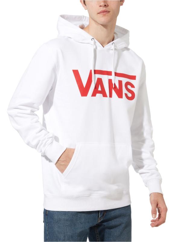 Vans Classic Hoodie (white/racing red)