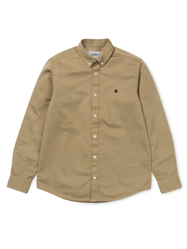 Carhartt WIP Madison Hemd (leather/black)