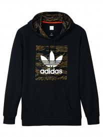 Adidas Camo Blackbird Hoodie (black/camo print/collegiate orange)