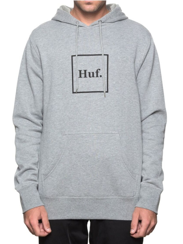 Huf Box Logo Hoodie (heather grey)
