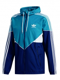 Adidas Premiere Windbreaker (real teal/collegiate navy/white)