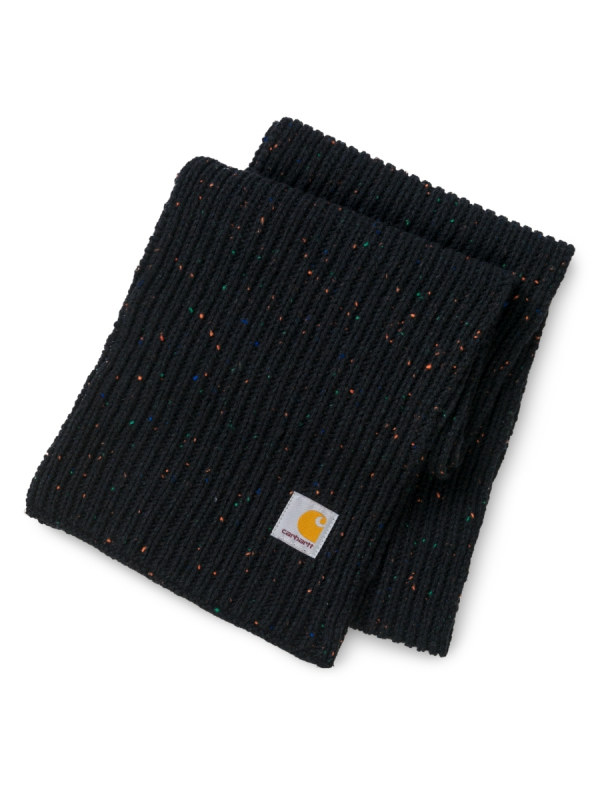 Carhartt WIP Anglistic Plain Schal (black heather)